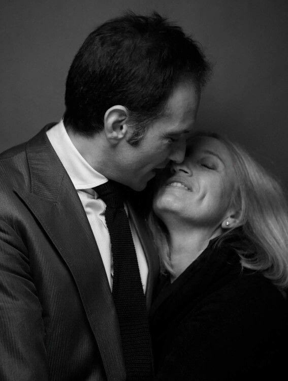 Io e Stefania ritratti dal Maestro Giovanni Gastel. Gentile concessione del Maestro Giovanni Gastel. Tutti i diritti riservati #LucaLitrico #SartoriaLitrico #BespokeTailor #LaNobiltàdelFare