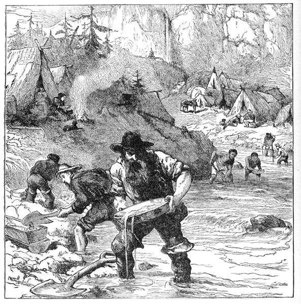 gold rush 1848 In january 24, 1848, gold was found in california, unleashing a massive global migration americans, mexicans, chileans, african americans, chinese and more arrived.