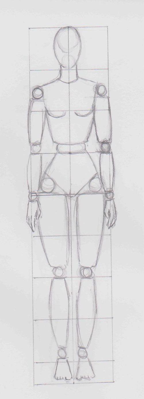 Grille Mannequin Femme Labo Dcom Docd Dessiner Pinterest