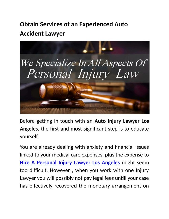 Pin On Auto Injury Lawyer