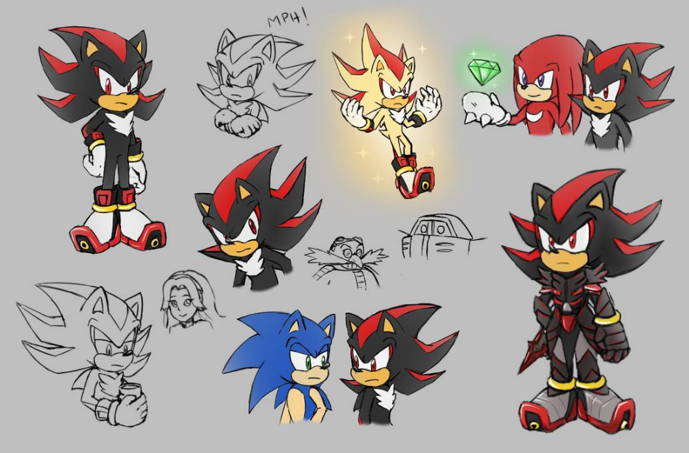 Sth Shadow Doodles By Biko97 On Deviantart Sonic And Shadow Shadow The Hedgehog Shadow