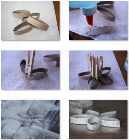 Estrella navide a con materiales reciclados cosas de for Materiales para manualidades navidenas