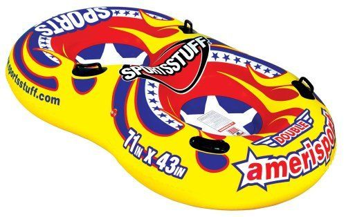 Sportsstuff Double Amerisport Snow Sled by SportsStuff. $47.99. Double up and hit the slopes with the Double Amerisport from Sportsstuff. With its bright, patriotic graphics, you're sure to be noticed sliding down the hills with a friend in this fun and exciting tube.