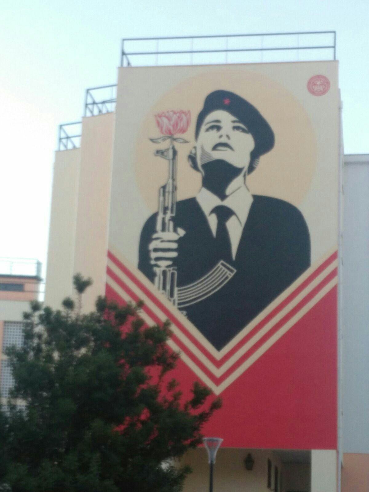 Mural em Sapadores, Lisboa