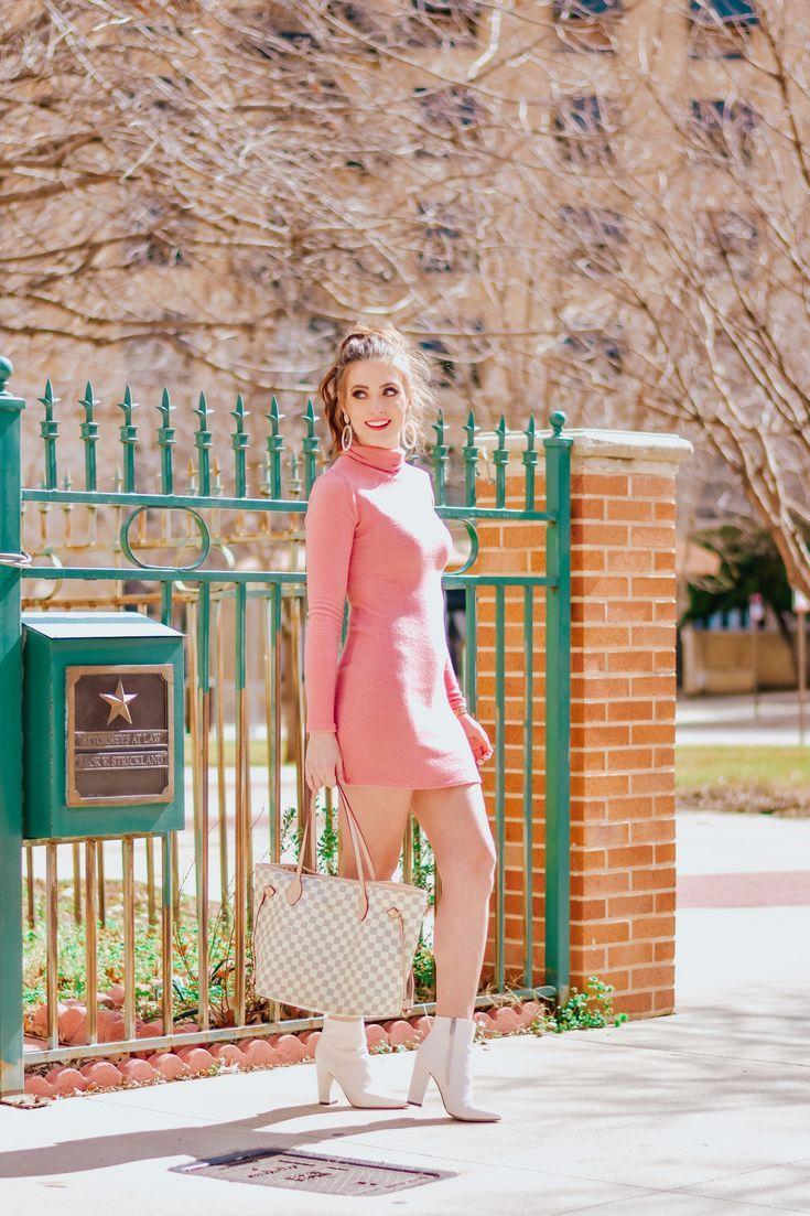 Pink sweater dress pink sweater dress pink outfits