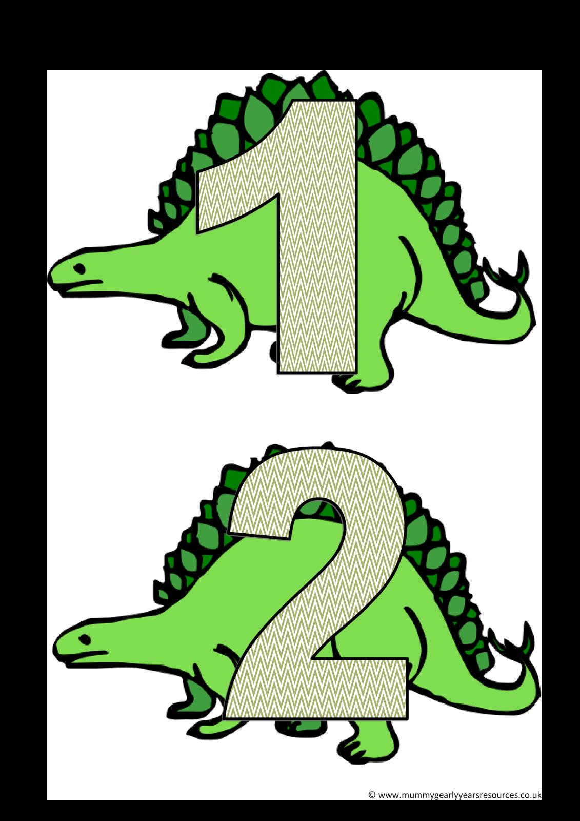 Dinosaur Number Line
