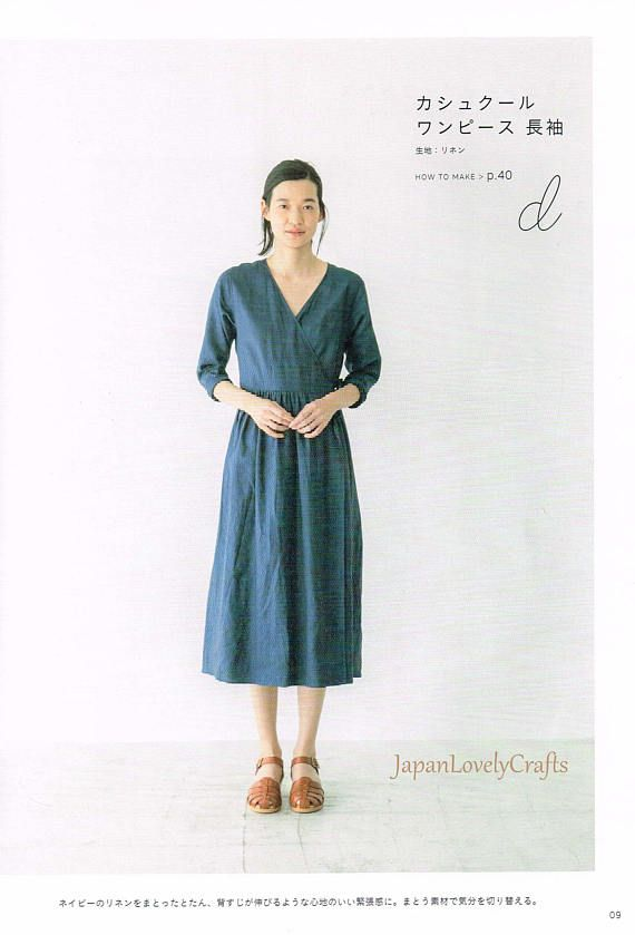Simple Wardrobe, Japanese Sewing Pattern Book for Women Clothing ...