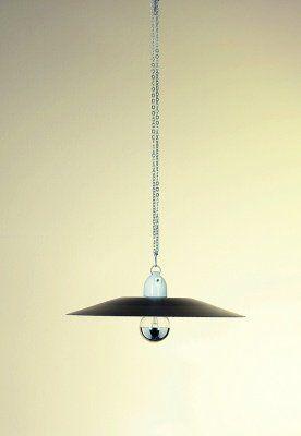 Lampada in lastra di alluminio tornita a mano, laccata o grezza: franca@contractandmore.com