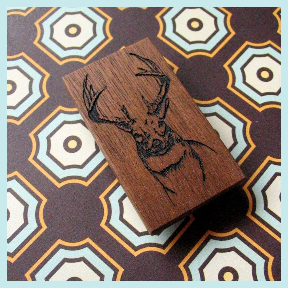 Stag wood money clip by garnishhome on Etsy, $37.00