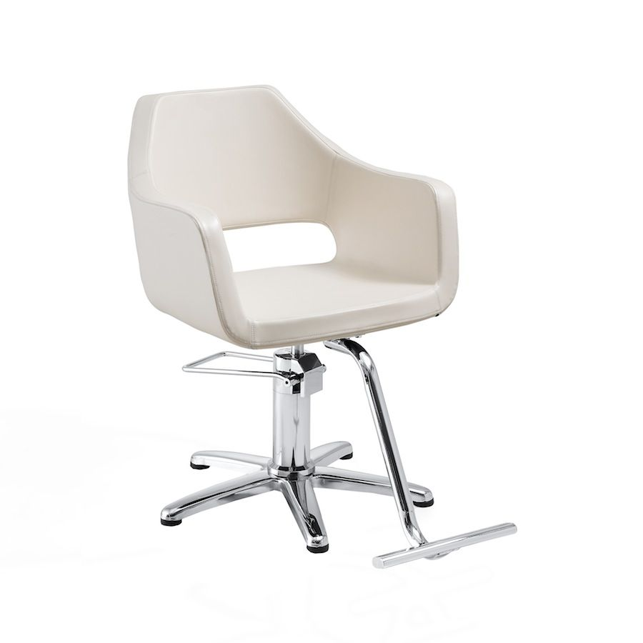 The Margaux White Salon Chair From One Of Mireya S Sources Salon Chairs Hair Salon Chairs Midcentury Modern Dining Chairs
