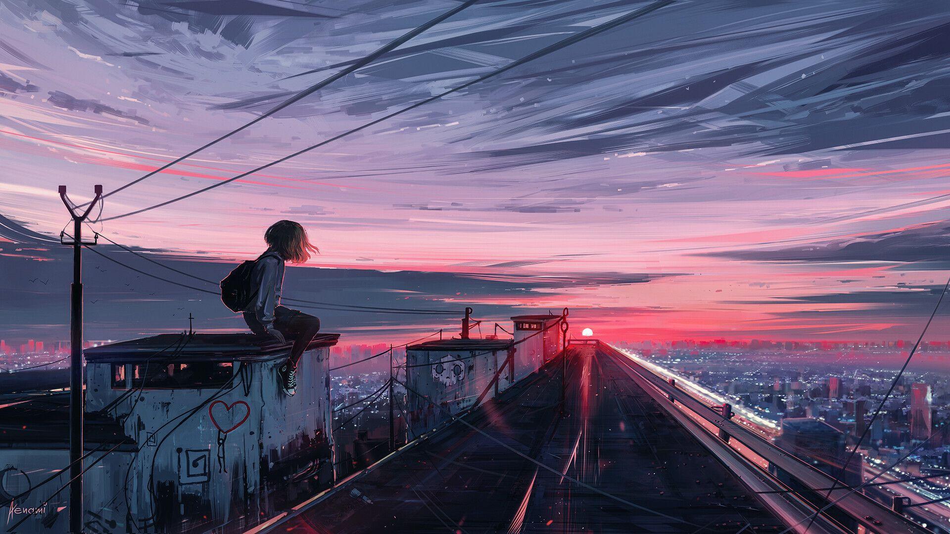 Dope desktop backgrounds anime wallpaper 1920x1080 free. ArtStation - Someday, Alena Aenami   Ảnh tường cho điện