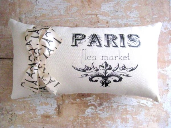 Paris Pillow French Decor Cottage French Country Home By Luulla Simple French Pillows Home Decor