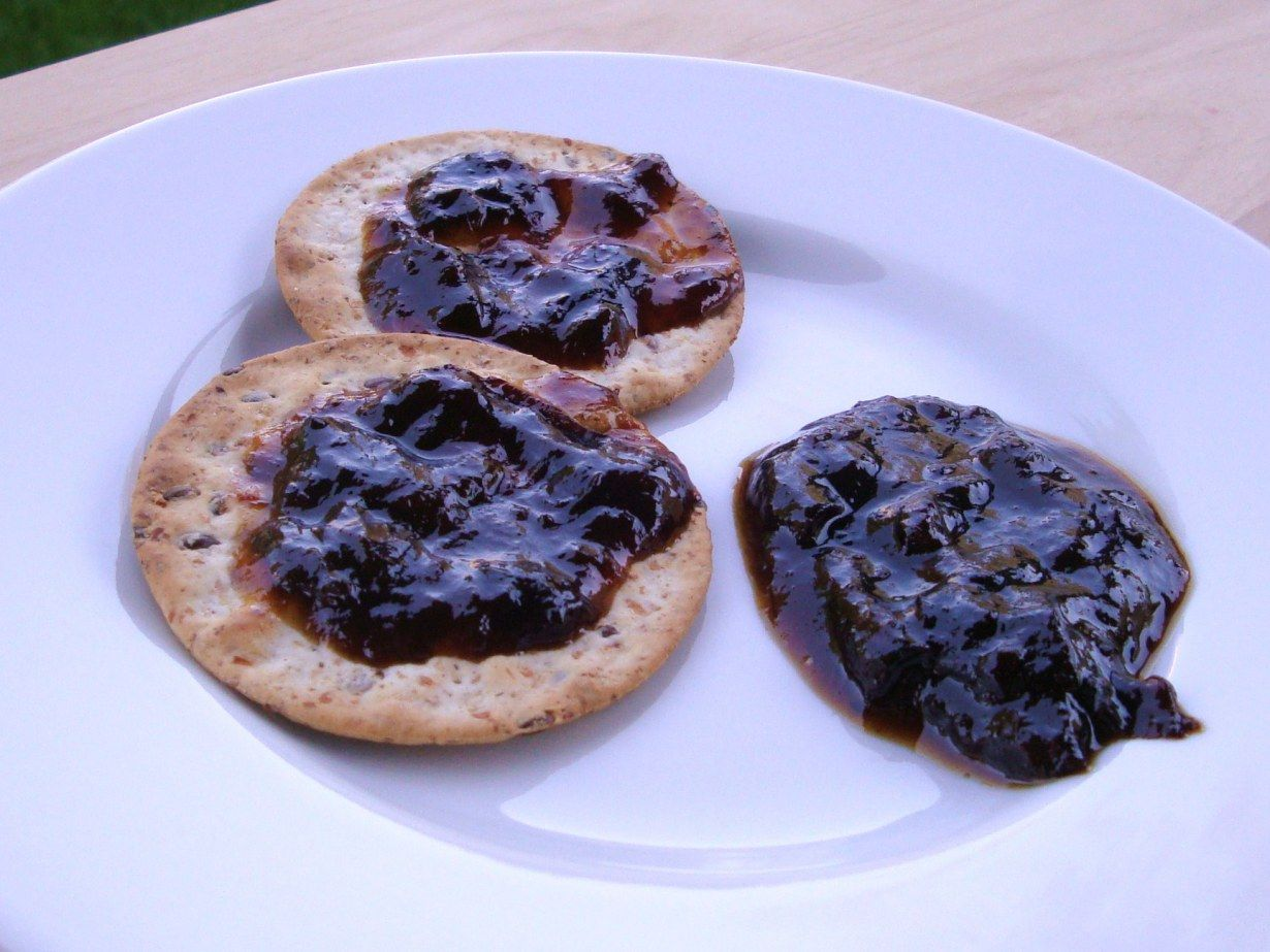 prune spread on crackers