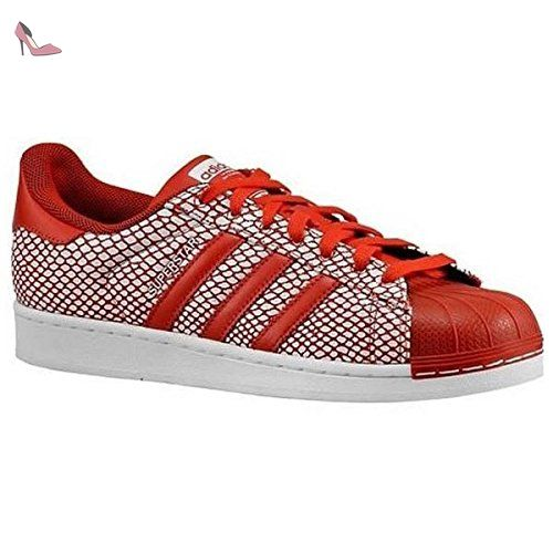 separation shoes c2e1b aa7d2 Adidas Superstar Serpent pack Mens Style S82730-rouge  blanc Taille 7.5 M
