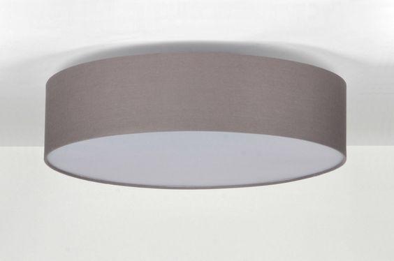Plafoniere Per Garage A Led : Deckenleuchte 71392 modern grau stoff rund