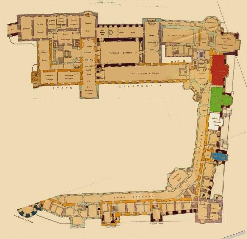 Windsor castle partial floorplan