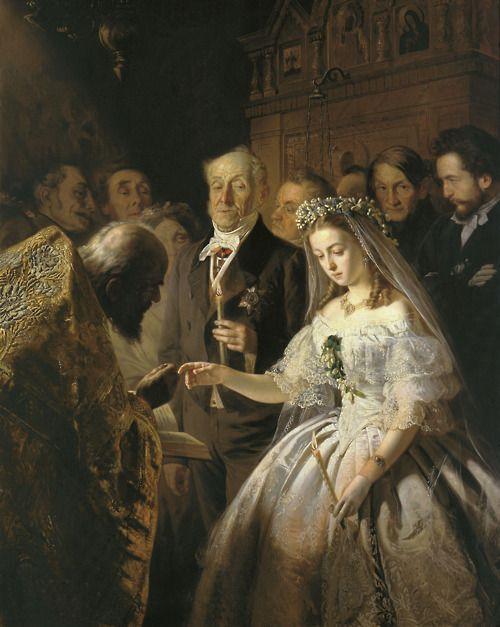 Vasily Vladimirovich Pukirev (1832-1890) (Russian)  The Unequal Marriage