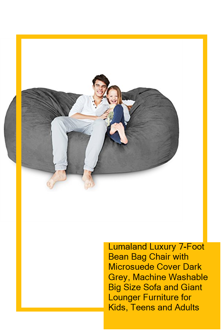 Lumaland Luxury 7-Foot Bean Bag Chair with Microsuede ...