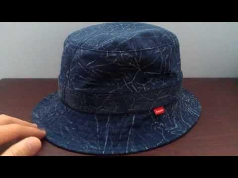 Supreme Acid Wash Blue Crusher Review Spring Summer 2013 Cotton Plain Weave  Bucket Hat  Streetwear TV  254eb8aeb83