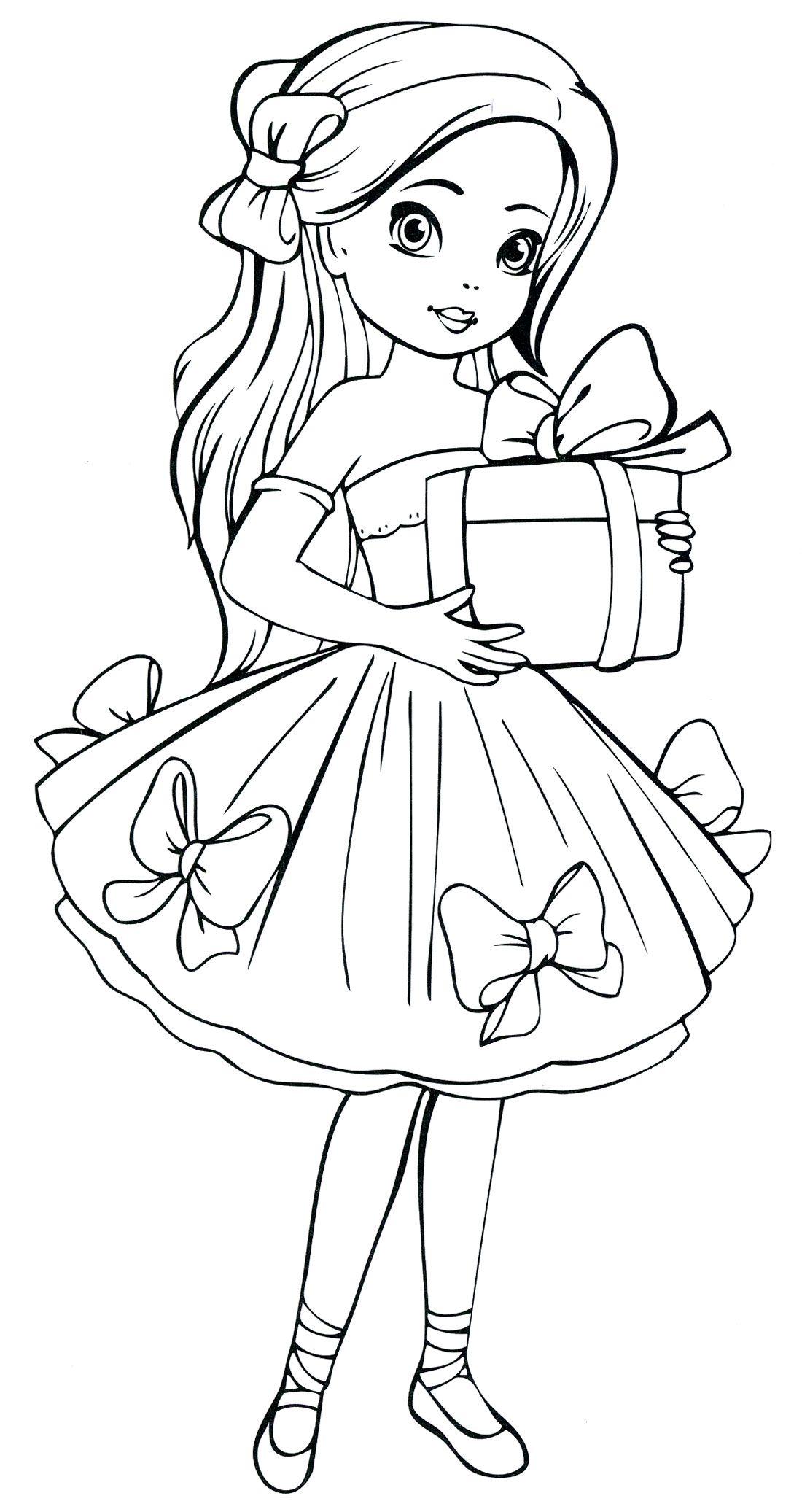 Картинки для разрисовки для девочек