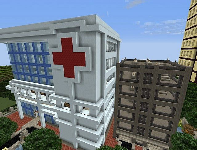 Minecraft Hospital Minecraft Pinterest Minecraft Minecraft - Minecraft hauser einfach bauen