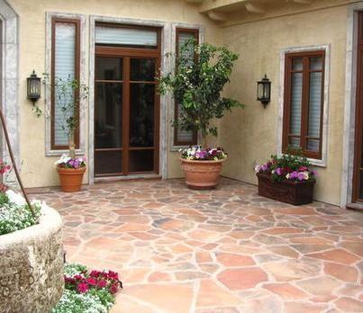 Piso para patio exterior buscar con google proyecto for Pisos para patios rusticos