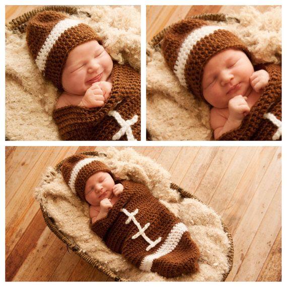 newborn football cocoon hat baby football costume infant football halloween costume baby football - Infant Football Halloween Costume