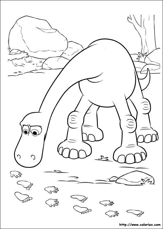 Coloriage et dessins gratuits le bon dinosaure 13 imprimer arlo dessin pinterest - Dinausore dessin ...