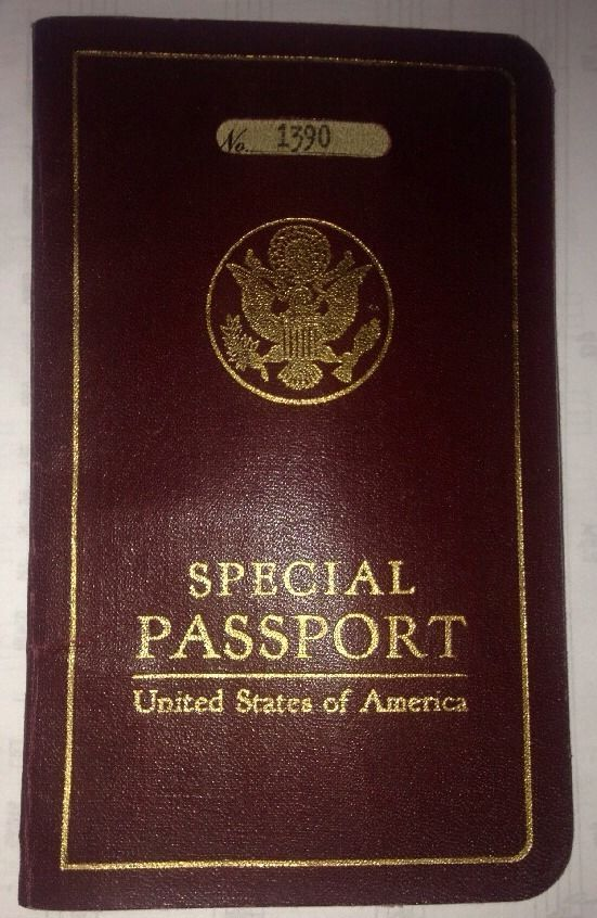 US SPECIAL PASSPORT Navy 1934 USS Sacramento Asiatic Fleet China ...