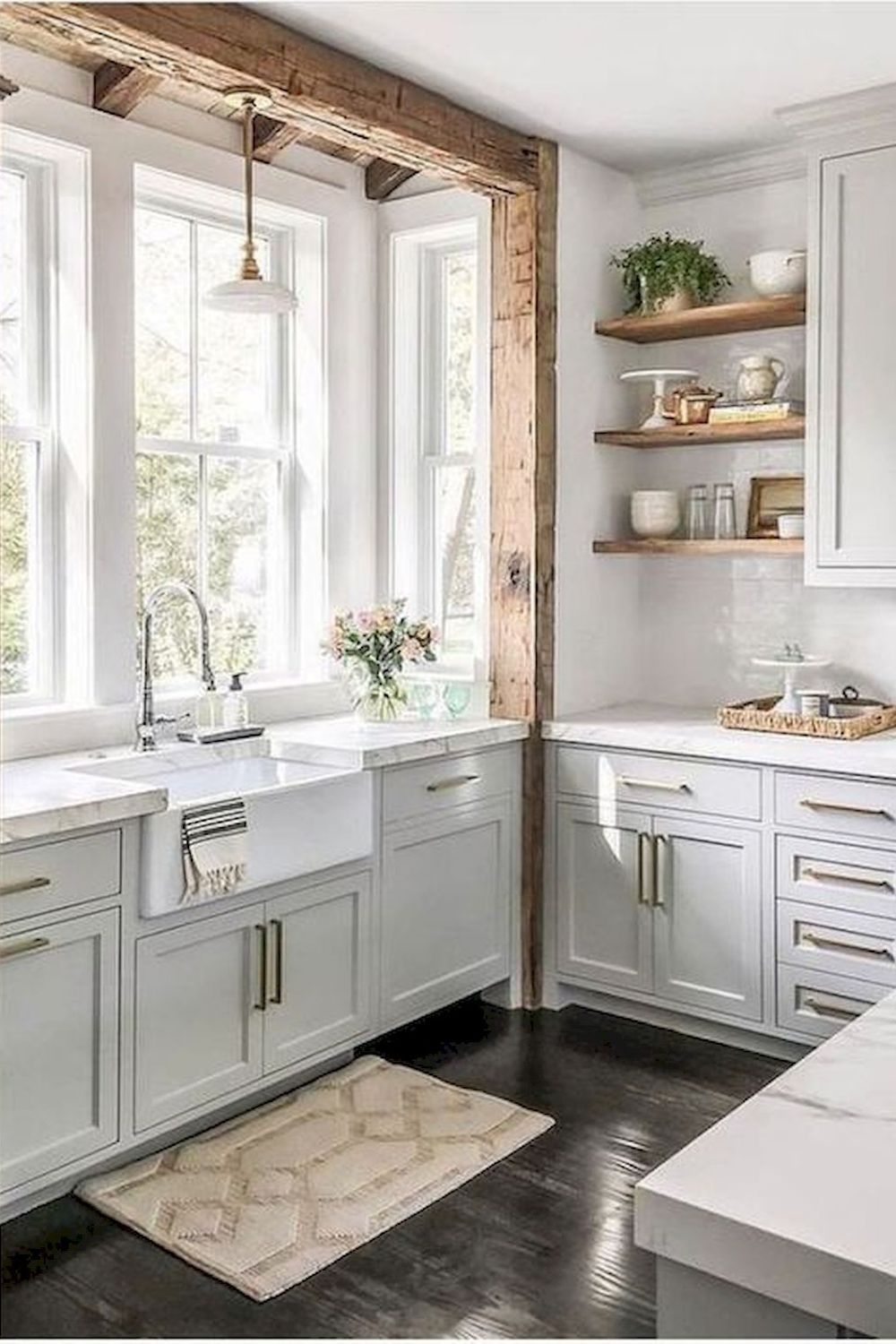 Photo of Farmhouse kitchen Kitchen cabinet Rustic modern Cabinetry Room Furniture
