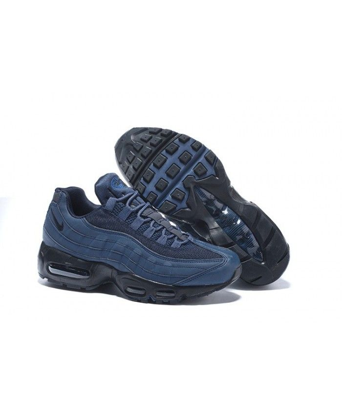 sports shoes 4f509 e6dd2 Homme Nike Air Max 95 Dark Bleu Noir Chaussures