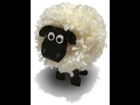 اصنعي خروف العيد بنفسك الليبيه الذهبيه How To Make A Cute Sheep Youtube Sheep Crafts Pom Pom Crafts Wool Crafts