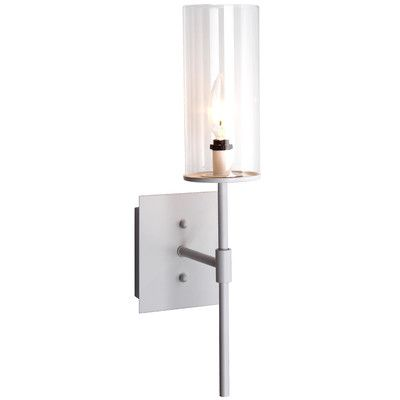"""Features:  -Clear glass shade.  -Style: Contemporary.  -Durable.  -Needs to be hardwired.  Product Type: -Wallchieres.  Style: -Contemporary. Dimensions:  Overall Height - Top to Bottom: -18.5"""".  Over"""