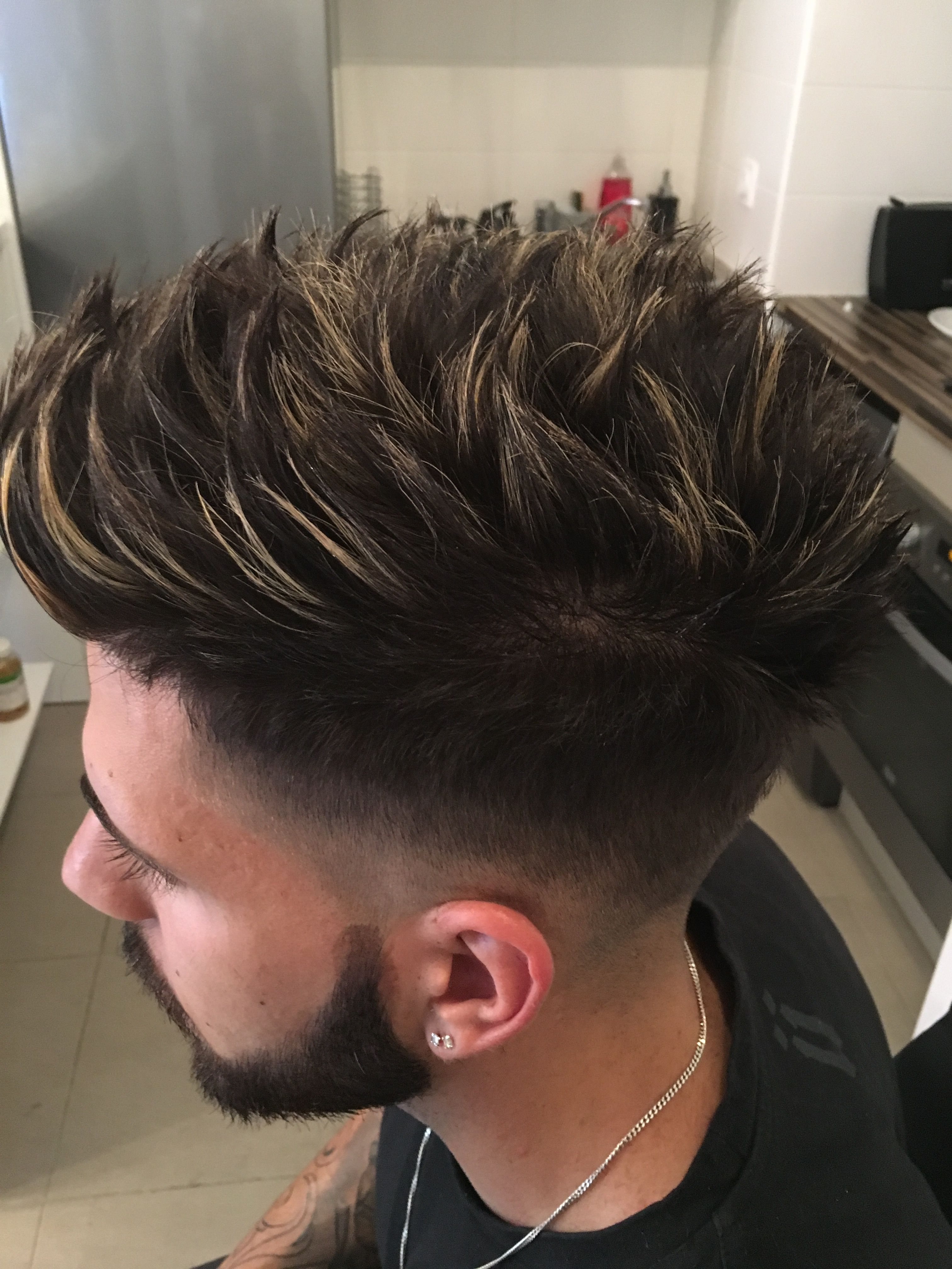 Pin By Theo Abadi On 0 0 Gents Hair Style Colored Hair Tips Comb Over Fade Haircut