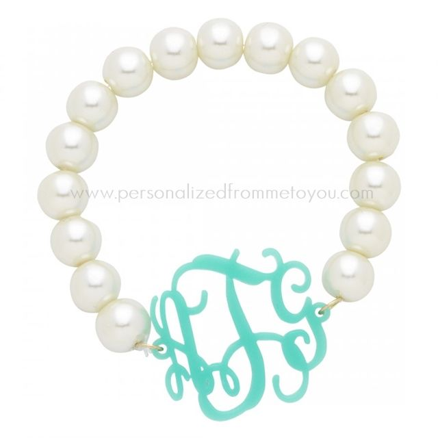 Pearls Always Match The Monogram The Silver Box Jewelry