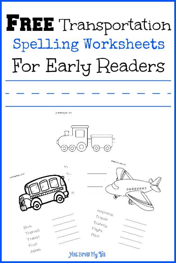 free transportation spelling worksheets for early readers spelling worksheets worksheets. Black Bedroom Furniture Sets. Home Design Ideas