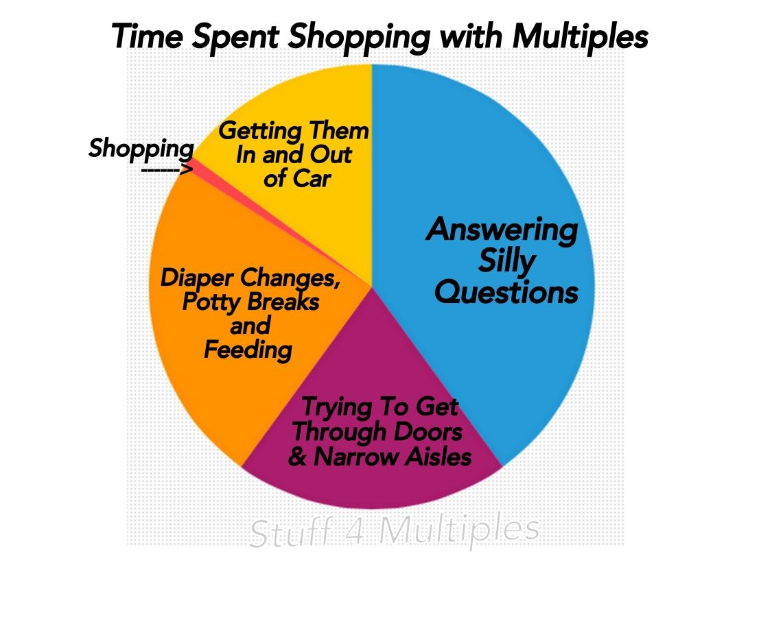 Shopping with multiples pie chart a funny look at what its shopping with multiples pie chart a funny look at what its really like to go nvjuhfo Images