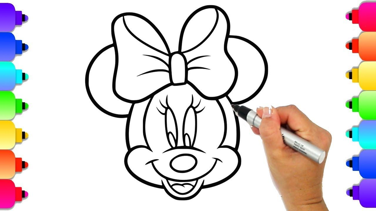 Minnie Mouse Coloring Page Draw And Color Minnie Mouse With