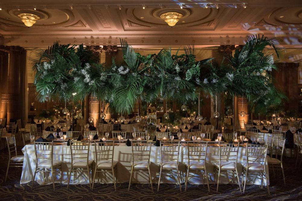 Crystal Tea Room Philadelphia Indian Wedding Tejal Jay Reception Table Centerpieces Tea Room Indian Reception