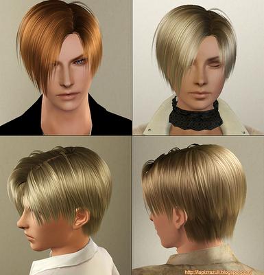 Sims3 Hair Mesh 4 Leon Unisex 髪型 バイオハザード バイオ
