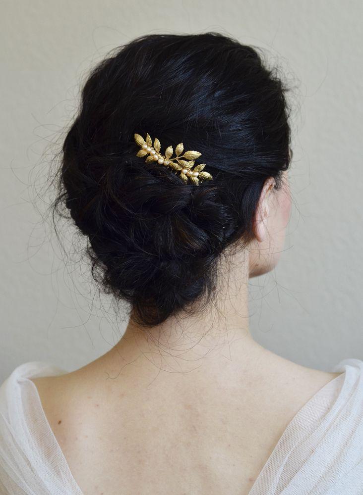 bijoux mariage peigne cheveux perles de culture feuilles orchid e de soie la coiffure du jour. Black Bedroom Furniture Sets. Home Design Ideas