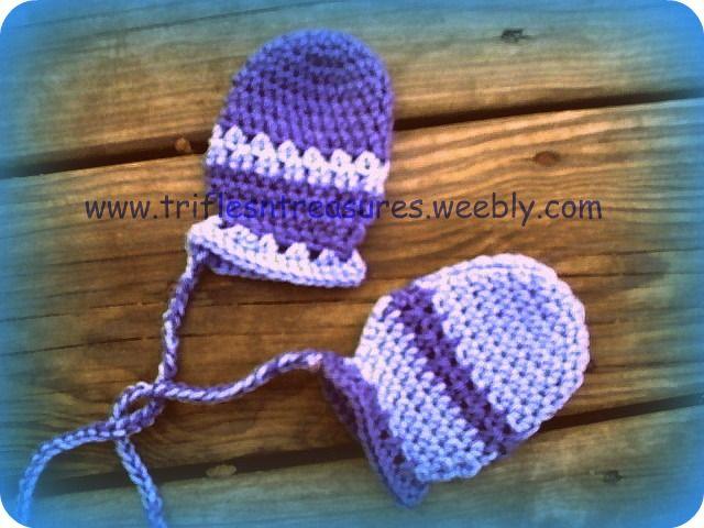 Free Crochet Pattern -- Stripes- Thumb-less Baby Mitts   Crochet ...