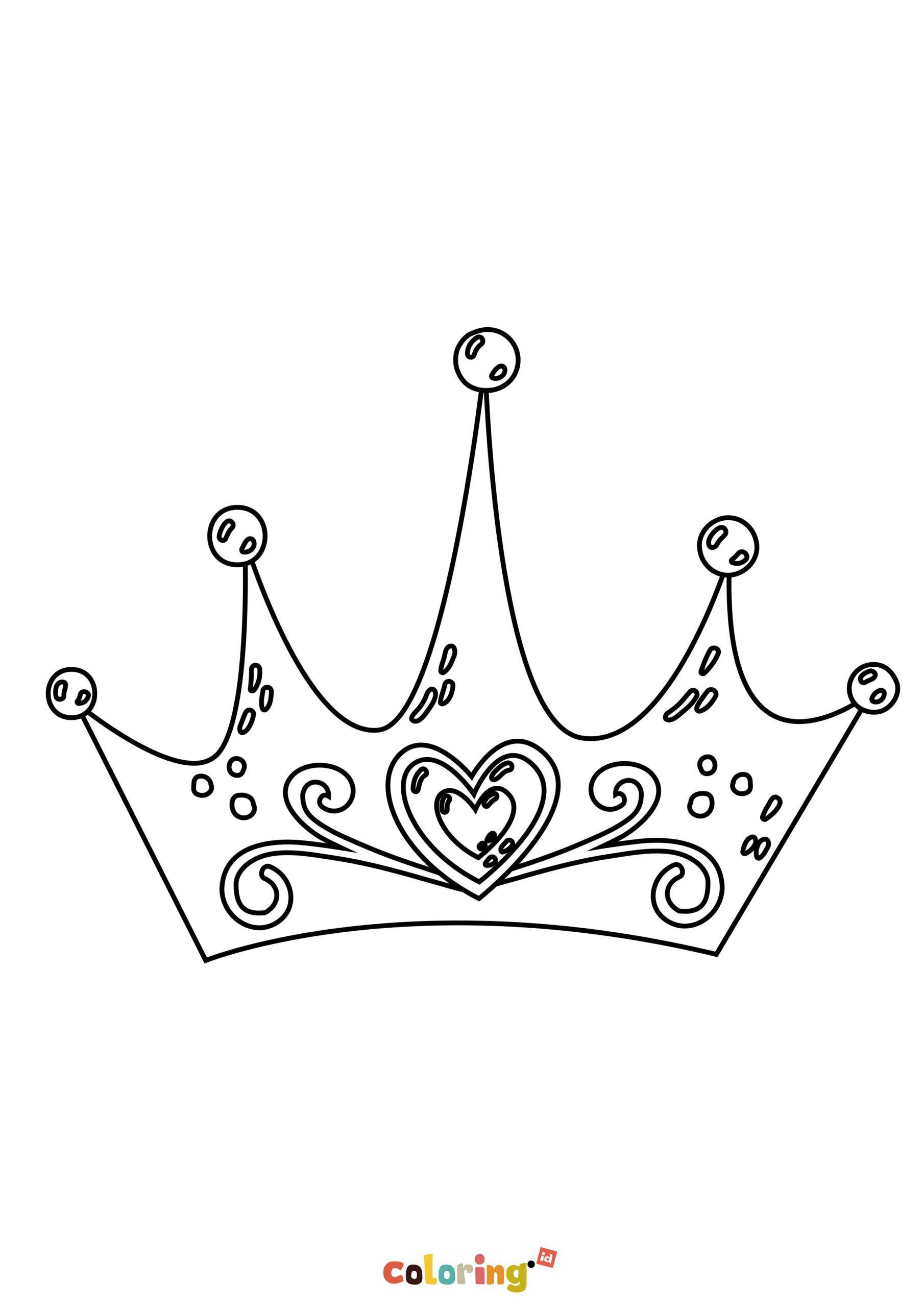 Princess Crown Coloring Page Di