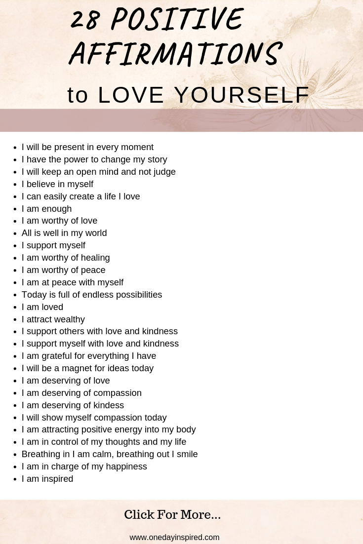 Affirmations love positive 18 Powerful