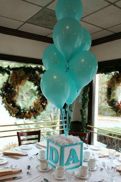 Centro de mesa con globos ideas para fiestas Pinterest Ideas