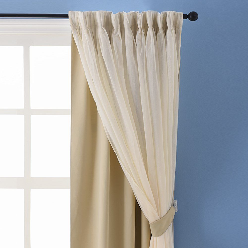 Amazon Com Nicetown Double Layer Mix Match Dressing Beige Sheer