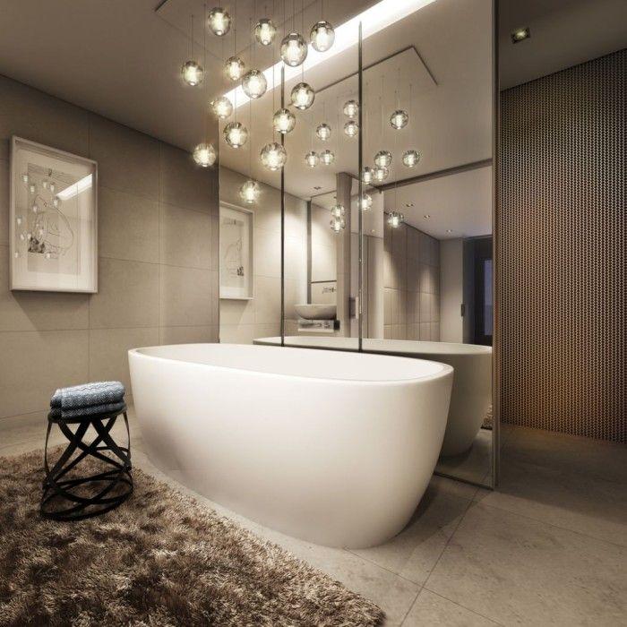Modern Bathroom Chandelier Bathtub Lighting Bathroom Design
