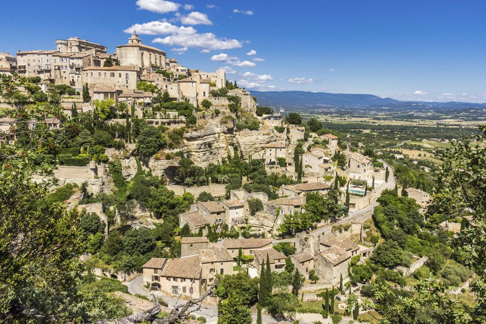 hill town of Gordes (Vaucluse) France // snarky comments to say Everything there is ugly and unremarkable.
