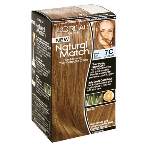 L Oreal Natural Match No Ammonia Color Calibrated Creme Dark Ash Blonde 7c Cooler For More Information Visit Image L Hair Color Loreal Beauty Hair Color