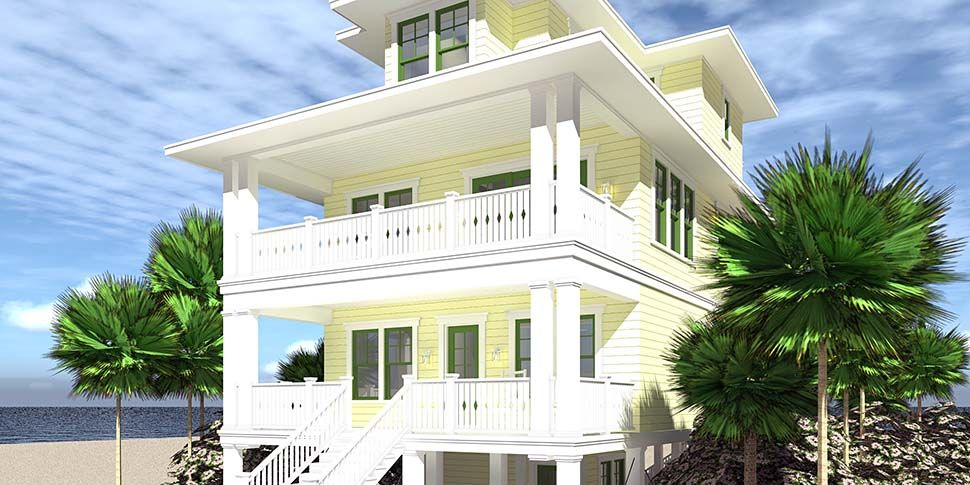 Coastal Style House Plan 70853 With 4 Bed 4 Bath 4 Car Garage Beach House Interior Beach House Plan Beach House Room